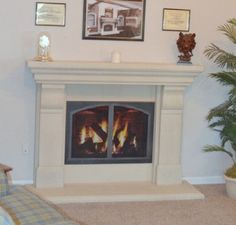 amazon com georgetown precast fireplace mantel and surround