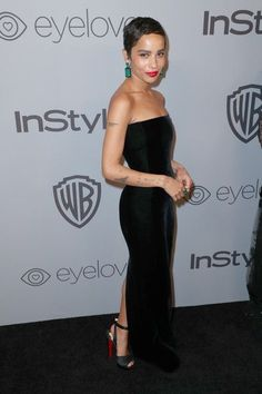 Actress Zoe Kravitz attends the 2018 InStyle and Warner Bros. Annual Golden Globe Awards Post-Party at The Beverly Hilton Hotel on January 2018 in Beverly Hills, California. - The 2018 InStyle and Warner Bros. Annual Golden Globe Awards Post-P Beautiful Black Dresses, Beautiful Outfits, Star Fashion, Girl Fashion, Zoe Kravitz Style, Zoe Isabella Kravitz, Golden Globe Award, Golden Globes, Inspiration Mode