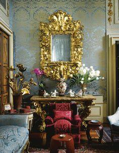 The aristocratic Palazzo Principe Massimo in Milan designed by Studio Peregalli.