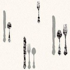Visit The Home Depot to buy York Wallcoverings 56 sq. Metallic Silverware with Damask Wallpaper Damask Wallpaper, Joss And Main, Hair Accessories, Contemporary, Decoupage Ideas, Kitchen Pantry, Inspiration, Utensils, Home