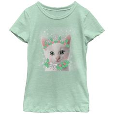 Lost Gods Girl's - Christmas Sugar Cat Fairy T Shirt