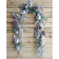 The Holiday Aisle® North Valley White Spruce Artificial Christmas Tree with Clear/White Lights & Reviews | Wayfair Pinecone Garland, Pine Garland, Christmas 24, Christmas Wreaths, Christmas Ornaments, Mardi Gras, Seashell Wreath, Deco Mesh Wreaths, Holiday Decor