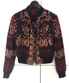 DRIES VAN NOTEN iconic floral embroidered reversible bomber jacket blouson coat  #DriesVanNoten #Bomber #Casual
