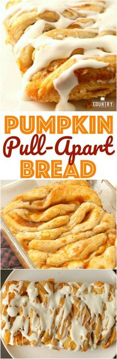 Easy Pumpkin Pull Apart Bread recipe from The Country Cook