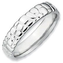 The Absolute Must Have Silver Stackable Rhodium Ring. Sizes 5-10 Available Jewelry Pot. $22.99. Fabulous Promotions and Discounts!. 30 Day Money Back Guarantee. Your item will be shipped the same or next weekday!. 100% Satisfaction Guarantee. Questions? Call 866-923-4446. All Genuine Diamonds, Gemstones, Materials, and Precious Metals