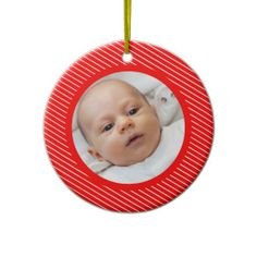 Red and White Stripes ornament