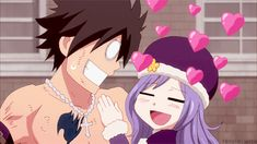 Juvia: Where shall we go on our honeymoon, darling? Gray: What's going on in your head?! Fairy Tail ep 186