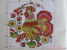 Cross-stitch Country Mason Jar Top Set, part 4... color chart on part 5... Gallery.ru / Фото #4 - вышивка схемки разное - pedak