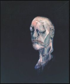 Francis Bacon: Study for Portrait II (after the Life Mask of William Blake), 1955 - oil on canvas (Tate)