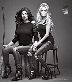 Wicked reunion... Idina Menzel & Kristin Chenoweth, photographed for 'Entertainment Weekly'