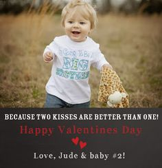 Valentines Pregnancy Announcement So sweet! Pregnancy Announcement Photography, Valentines Pregnancy Announcement, 2nd Baby, Baby Love, Baby Kids, Baby On The Way, Baby Gender, Baby Sister, Cool Baby Stuff