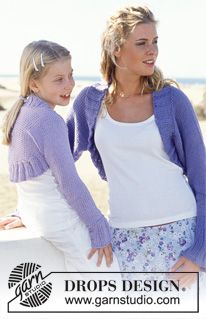 DROPS Shrug in Paris for Women and Girls - Free pattern by DROPS Design