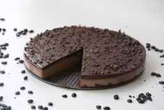 Raw Chocolate Mocha Cake (raw, no bake, vegan, dairy free, gluten free)