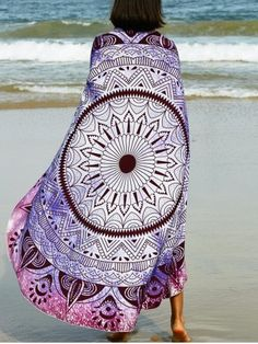 SHARE & Get it FREE | Bohemian Tribal Print Round Beach Sarong For WomenFor…