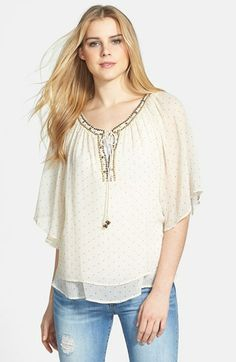9c248c78ae521 Dex Embellished Peasant Blouse