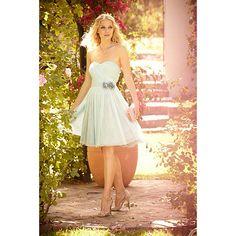 No. 1 Jenny Packham Pale blue mesh corsage prom dress- at Debenhams.com