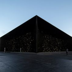 "Asif Khan has unveiled a pavilion at the Pyeongchang Winter Olympic Games in South Korea, described as the ""darkest building on earth""."