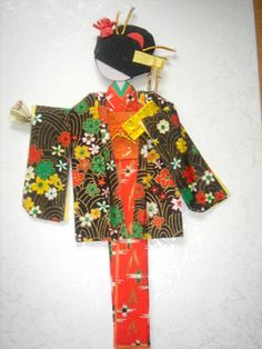 Origami doll in evening kimono with jacket by tengds, via Flickr