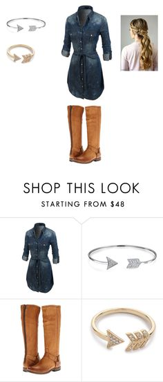 """""""Joanna Gaines Look-a-Like"""" by jessiebabe15 ❤ liked on Polyvore featuring LE3NO, Bling Jewelry, Frye and EF Collection"""