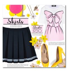 """""""Skirts Under $50"""" by dolly-valkyrie ❤ liked on Polyvore featuring Boutique Moschino, Jeremy Scott, Accessorize, under50 and skirtunder50"""