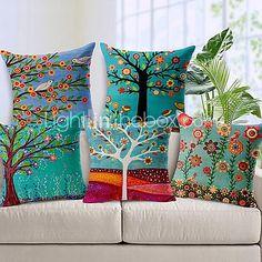 sarja 5 kaunis kukka puu puuvilla / pellava koriste tyyny - EUR €33.80 ! KUUMA tuote! Kuuma tuote nyt alessa uskomattoman edulliseen hintaan! Tutustu siihen ja moniin muihin vastaaviin tuotteisiin. Saa alennuksia, palkkioita ja paljon muuta joka kerta, kun shoppailet kanssamme!