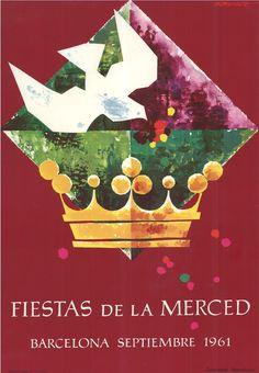 #Cartells #Franquisme #Festes_de_la_Mercè  #Barcelona Barcelona, Las Mercedes, Balearic Islands, Illustrations Posters, Movie Posters, Celebration, Exhibitions, Poster, Fiestas