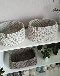 Crochet Baskets, Dog Bowls, Crochet Patterns, Homemade, Flat, Bathroom, Knitting, Baby, Gifts