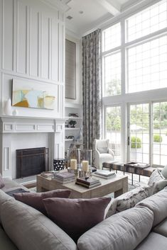 *this is absolutely perfect; tall ceilings, the window, panelling and that couch. light and bright