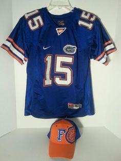 Florida Gators Nike Stitched Authentic SEC Mesh Jersey #15 XL Youth And Cap  #NikeandOneFit #FloridaGators