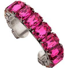 Pink Crystal Cuff