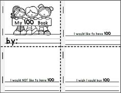 FREE 100th Day of School Booklet