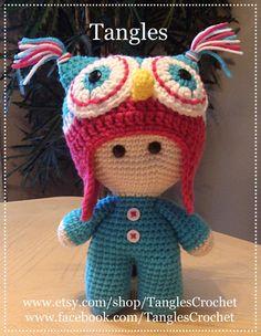 Owl * Big Head Baby Doll * Amigurumi