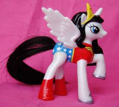 My Little Pony Wonder Woman OOAK Custom figure FiM Super hero Wonderwoman MLP #Hasbro