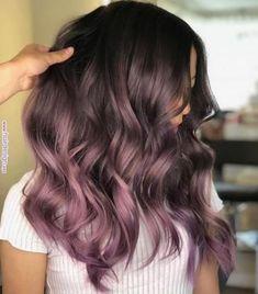 Awesome Balayage Hair Color Ideas For 2019 – frisuren lange haare Hair Color Purple, Cool Hair Color, Hair Colors, Purple In Brown Hair, Black Hair, Pinterest Hair, Hair Color Balayage, Purple Balayage, Blonde Balayage