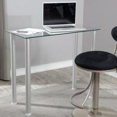 RTA Clear Glass Laptop / Writing Desk