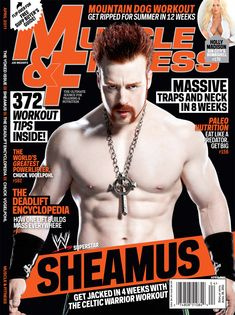 Sheamus - Cover of Muscle & Fitness magazine.
