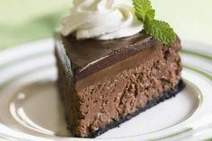 Chocolate-Chocolate Mint Cheesecake Recipe - Recipe for Chocolate Mint Cheesecakes - Girl Scout Cookie Recipes