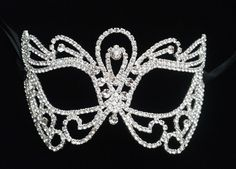 Crystal Rhinestone Butterfly Venetian Masquerade Party Mask *US SELLER*