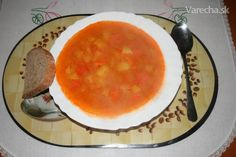 Kvaková polievka - recept   Varecha.sk Cantaloupe, Chili, Pudding, Fruit, Desserts, Food, Tailgate Desserts, Deserts, Chile