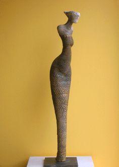 une des statues céramique de Bernard