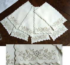 Antique Style: Antique Cocktail Napkins and Coasters!