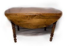 1830's Walnut Provencal table with drop leaves found in Aubagne, France.