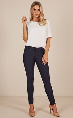 19ef0b0aaf7 Best Foot Forward Pants In Navy Produced. Business Casual  InterviewInterview Outfit SummerBlue ...