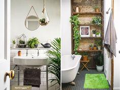 Как вам идея оживить ванную комнату яркими зелеными растениями или цветами в горшках? Любящие влажность и сумрачное освещение папоротники или другие растения тропических лесов отлично справятся с этой задачей. Для того, чтобы декорировать маленькую ванную комнату, вам будет достаточно 1-2 экземпляров. Только помните, что корни этих влаголюбивых растений должны постоянно находиться в воде, поэтому всегда наливайте в поддон под горшком несколько сантиметров воды#СОВЕТЫ_УЮТ  #ремонт…