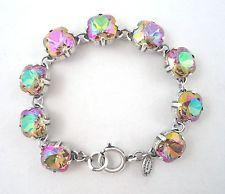 CATHERINE POPESCO NEW 2014 Pretty Purple Haze Swarovski Crystal Silver Bracelet