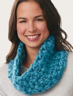 V-Stitch Comfy & Cozy Cowl: free crochet pattern | Yarnspirations