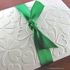 St. Patrick's Day Cards (Irish, Wedding with Shamrocks & Hearts). $8.00, via Etsy.