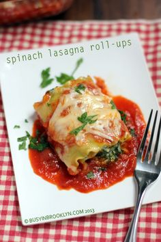 Delicious and baked - Spinach Lasagna Roll-Ups