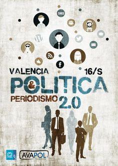 Cartel Jornada Política y Periodismo 2.0 Valencia 2014