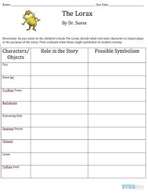 Printables Student Worksheet To Accompany The Lorax student worksheet to accompany the lorax versaldobip versaldobip